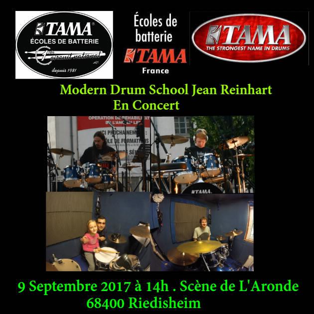 Les école de batterie en Concert le 9  Septembre 2017 à 14h.