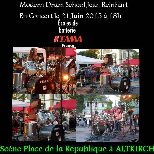 L'école de batterie en concert le 21 Juin 2015