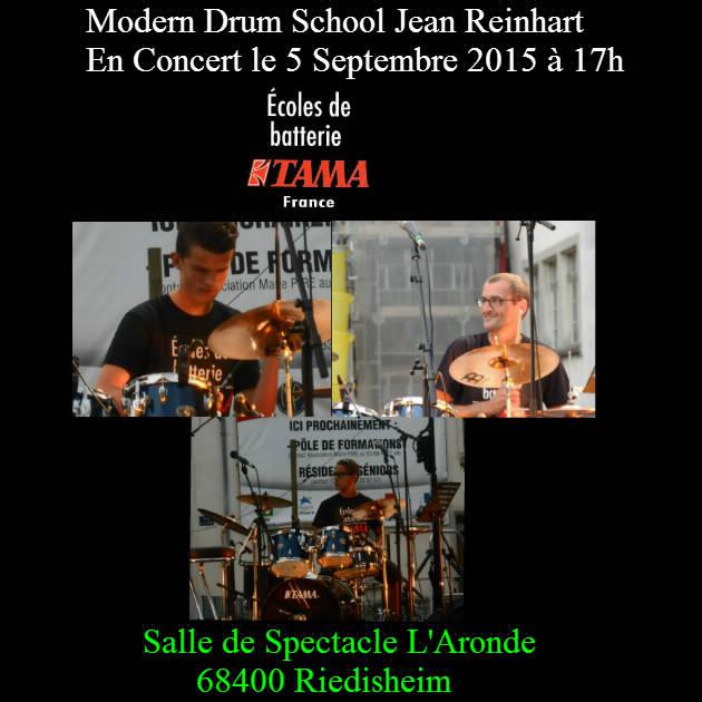 L'école de batterie de Riedisheim en concert le 5 septembre 2015